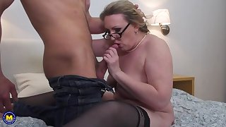 strict mother fucks her young lover